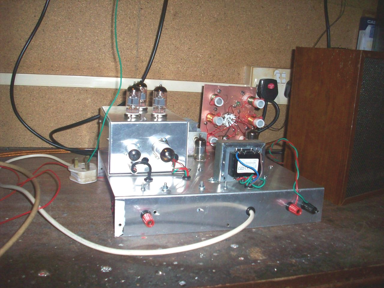 6 Valve Vhf Fm Pulse Counting Tuner Using Safe 25volt Dc Ht Line The Coil L1 On Radio Is Formed Pcb It39s Not Actually A Back View Of Newly Constructed Am Receiver As You May Notice Home Made Superhet Coils Are Used Including Medium Waves