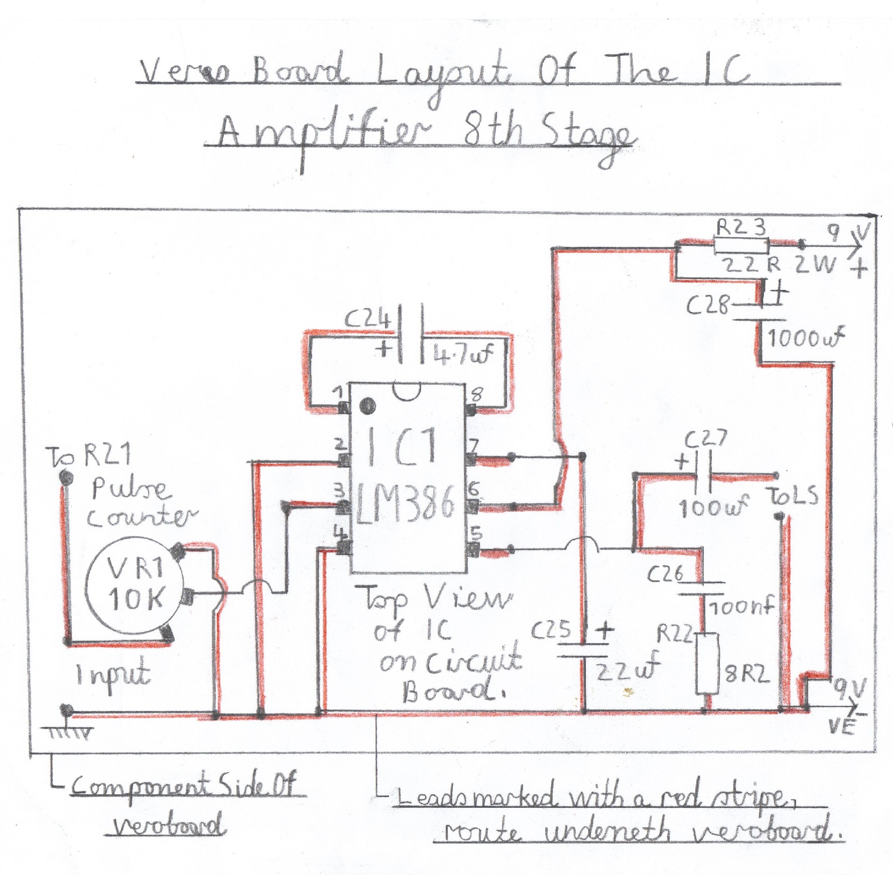 Transistor Fm Superhet Receiver Audio Amplifier Block Diagram Wiring Of The Lm386 This Stage Must Be Constructed And Tested First