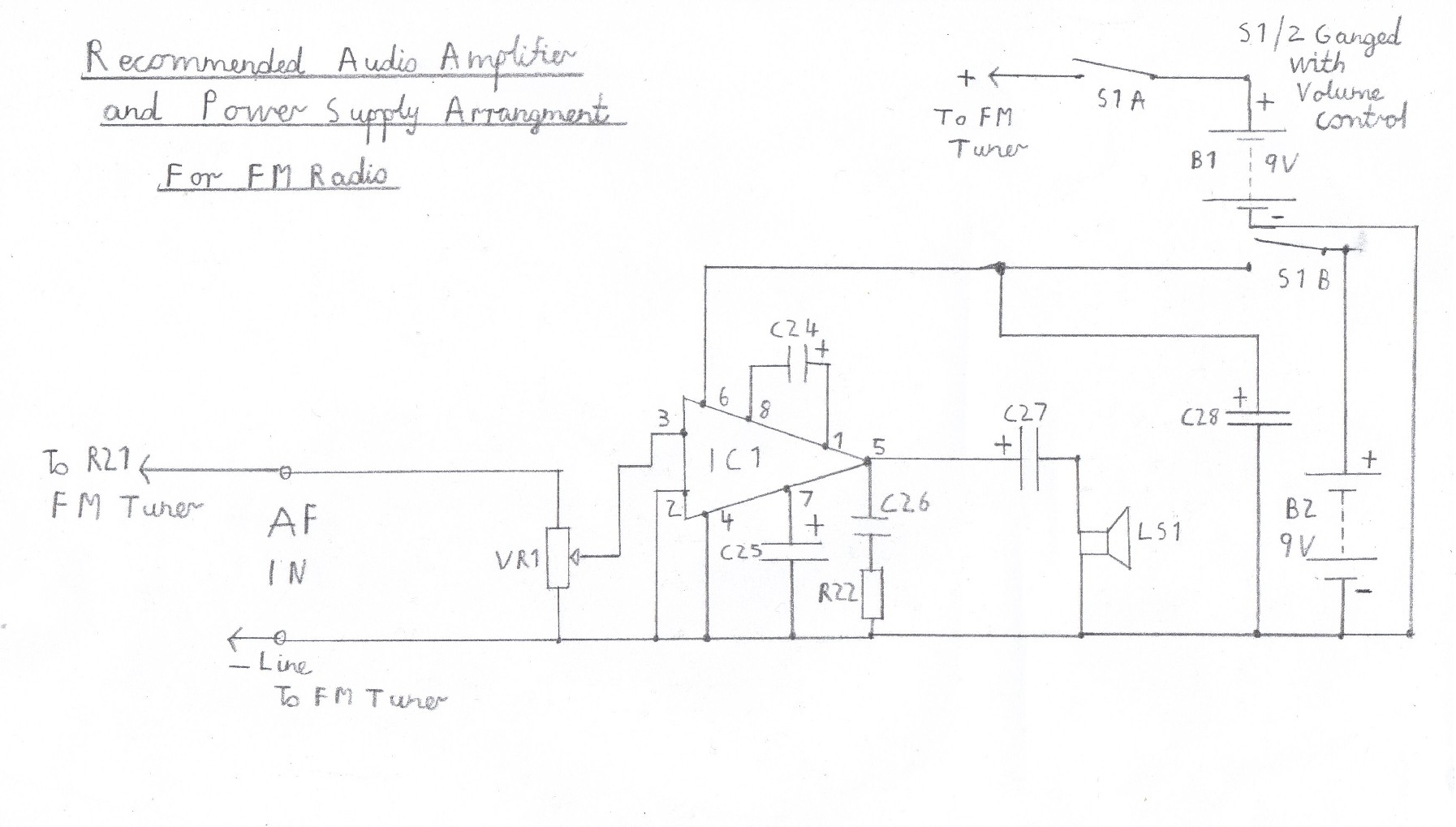 Transistor Fm Superhet Receiver Radio Antena Amplifier Circuit Design Suggested Audio For Tuner Please Refer To The Component List In Text