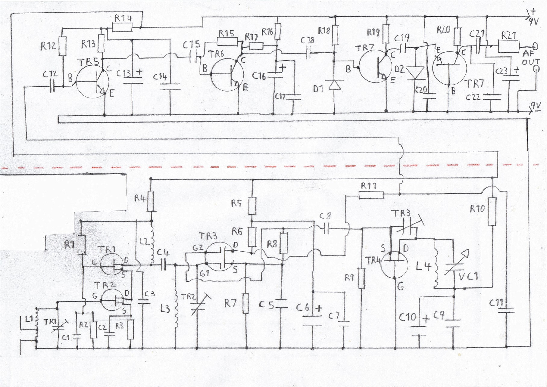 Transistor Fm Superhet Receiver F M Circuit Diagram Free Printable Of The Tuner Please Refer To Components List In Text