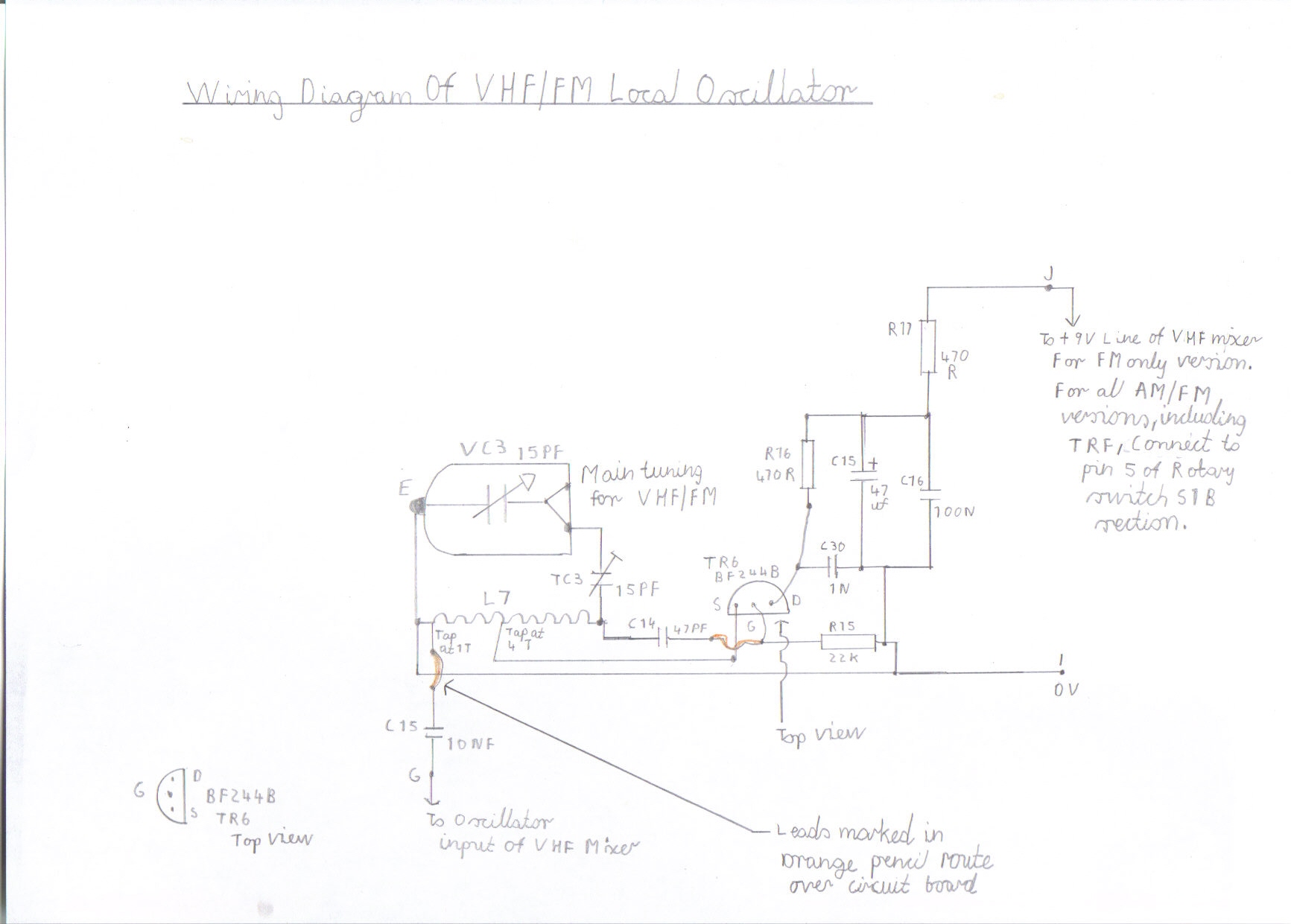 Solid State Am Fm Pulse Counting Receiver Designed For Hf Short Wave Zn414 Portable Picture 9 Wiring Diagram Of The Vhf Local Oscillator All Versions This