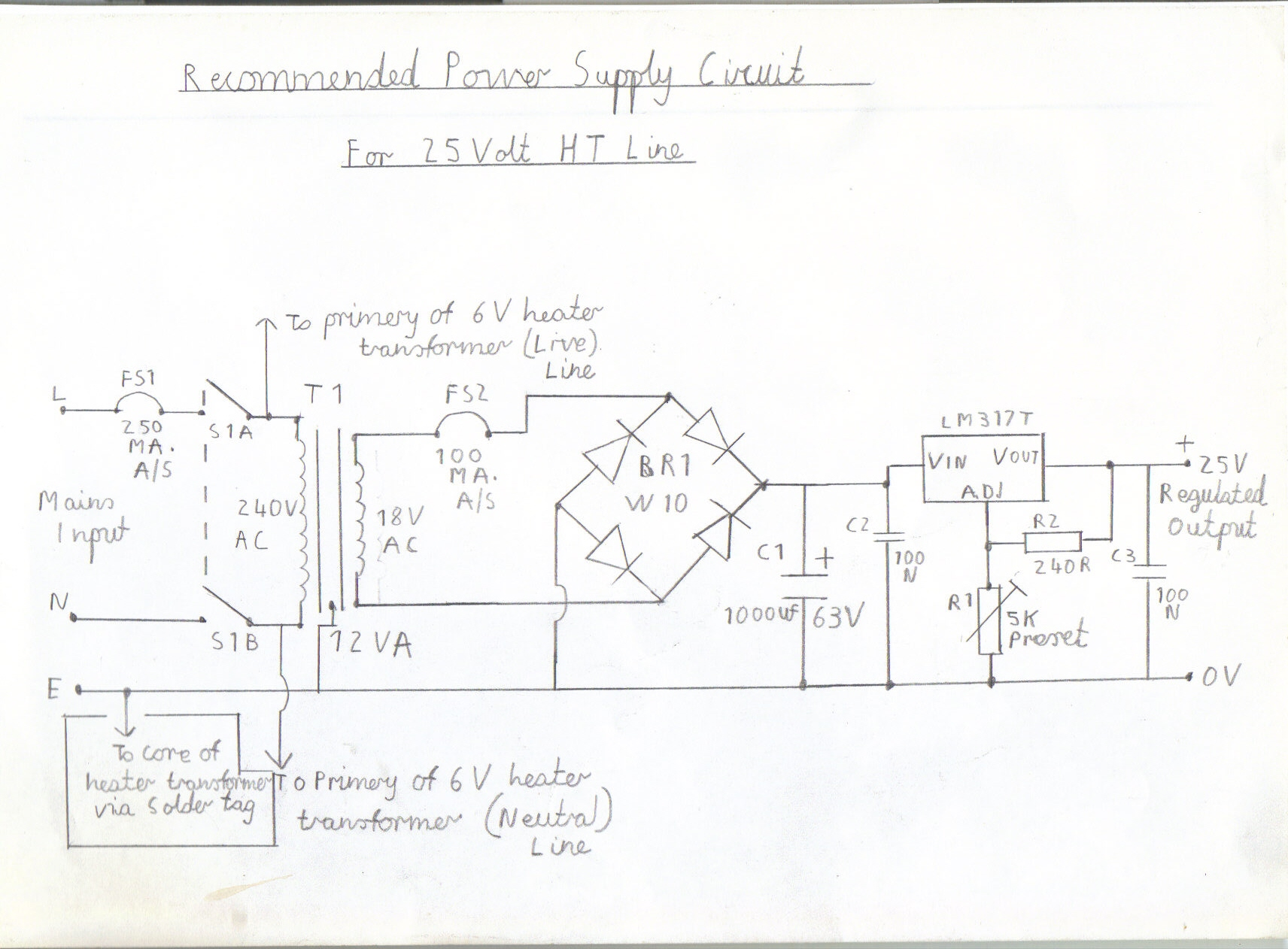wiring diagram of ht panel wiring image wiring diagram 6 valve vhf fm pulse counting fm tuner using safe 25volt dc ht line on wiring