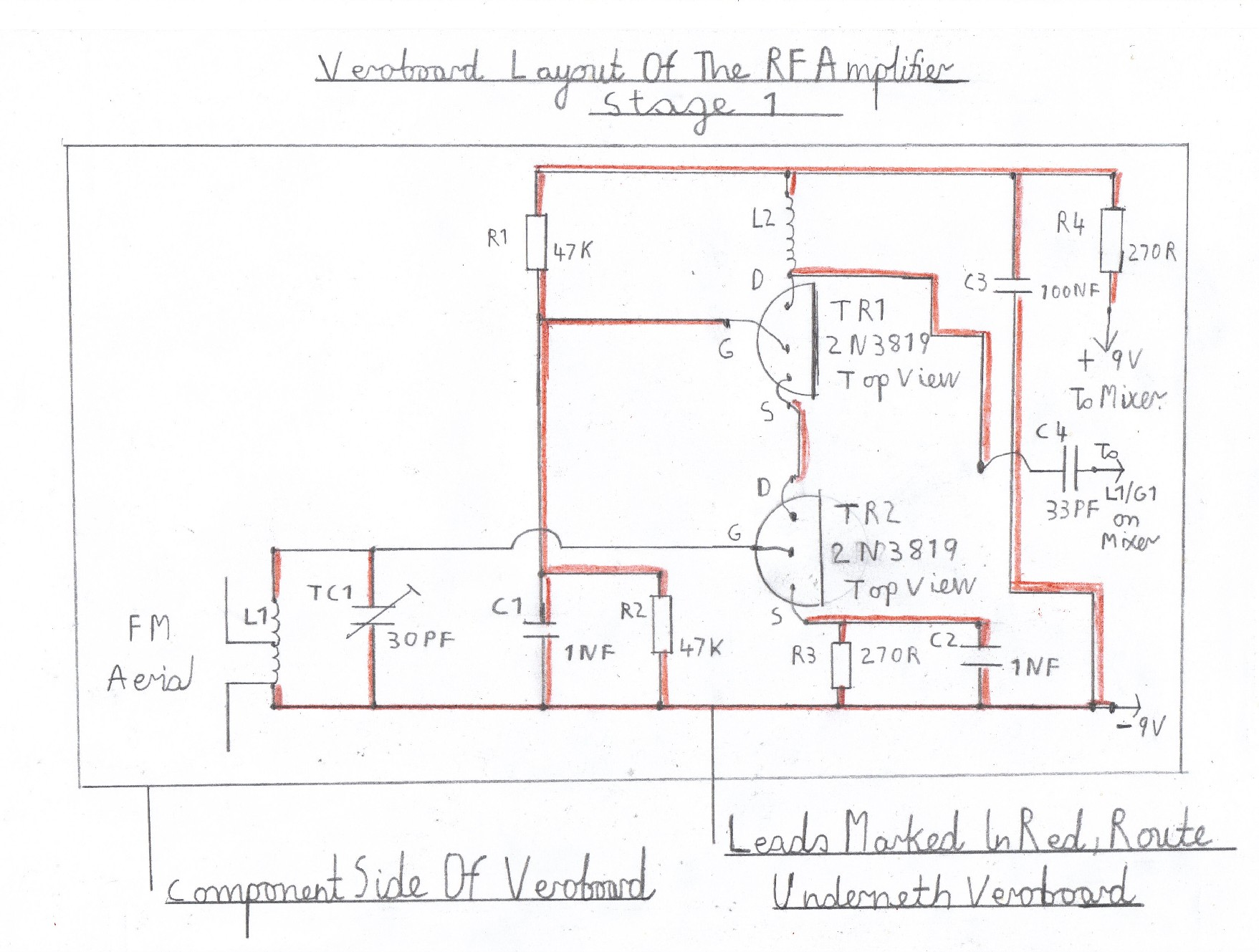 Transistor Fm Superhet Receiver One Line Wiring Diagram Kitchen Of The Rf Amplifier This Stage Is Wired And Tested After Vhf Known To Work Ok Now Completes Constuction