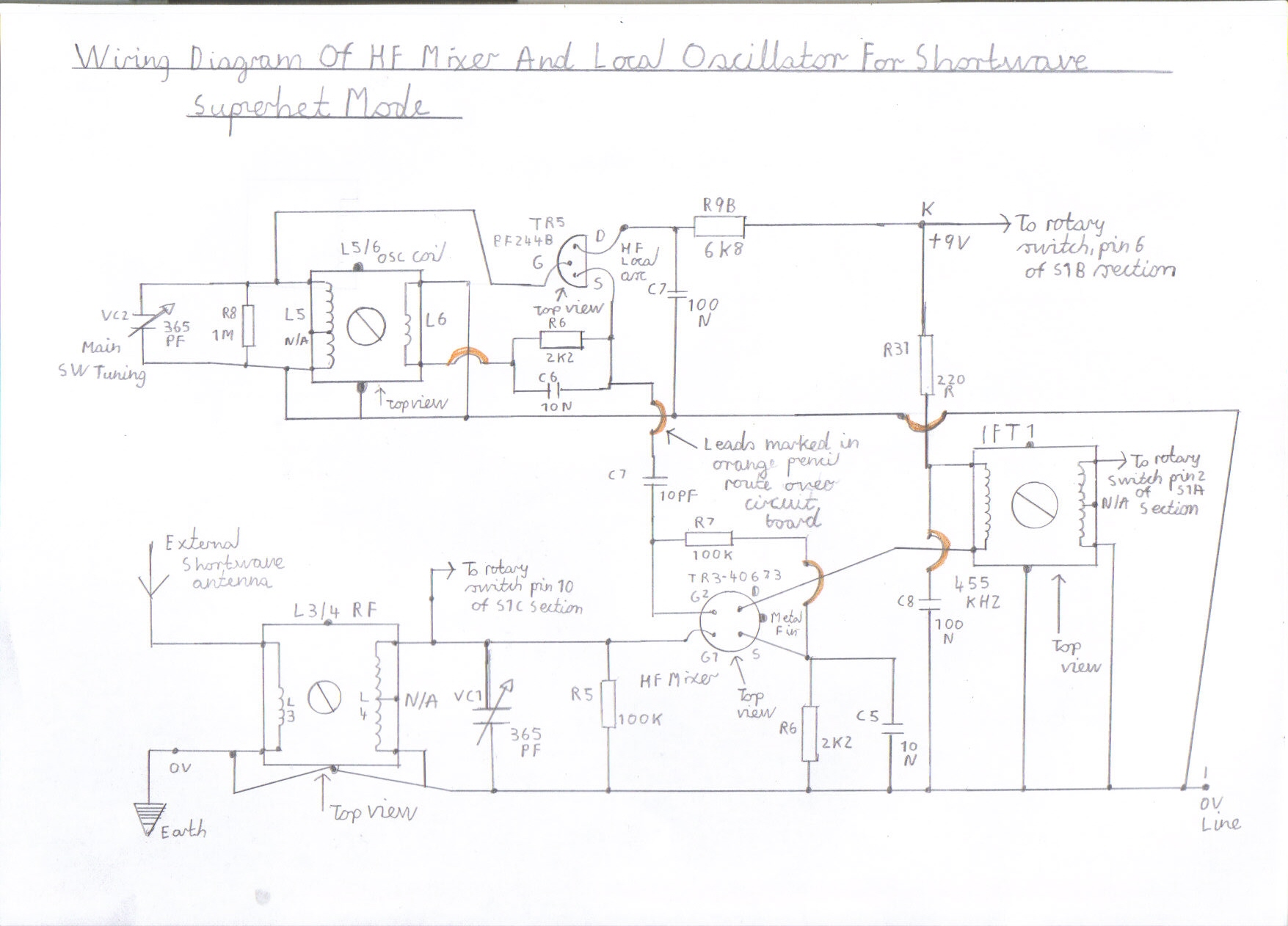 Solid State Am Fm Pulse Counting Receiver Designed For Hf Short Wave Basic Oscillator Circuit Wiring Diagram Of Mixer And Local Shortwave Superhet Mode All Configurations